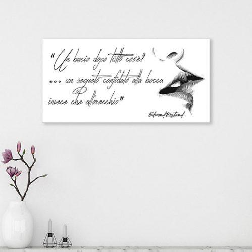 Quadro con scritta di Edmond Rostand stampa su tela