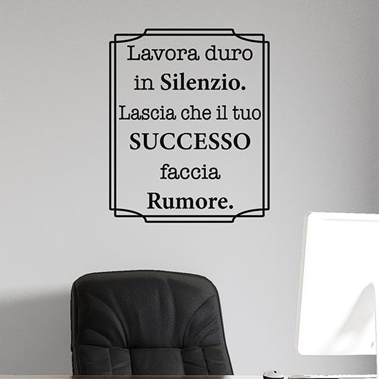 Scritta adesiva motivazionale da parete