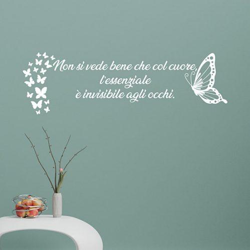 Scritta adesiva personalizzata da parete