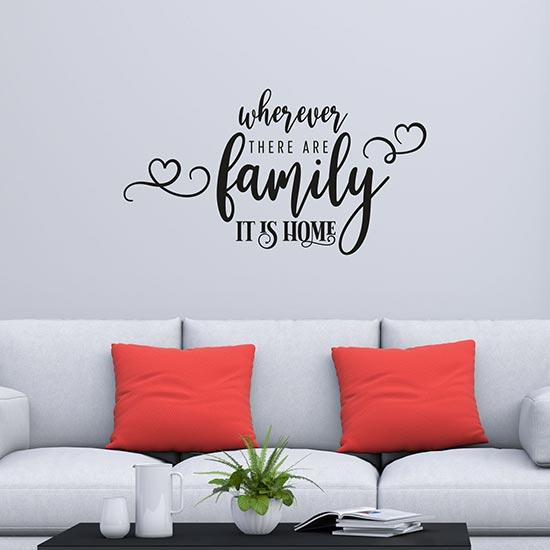 Adesivi per pareti sulla famiglia