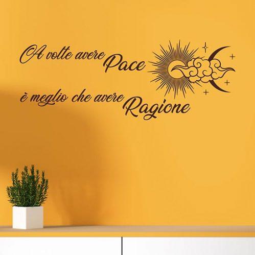 decorazione adesiva con frase per muro