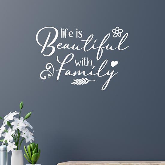 frase adesiva per la famiglia decorazione adesiva