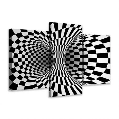 Quadri astratti con illusione ottica