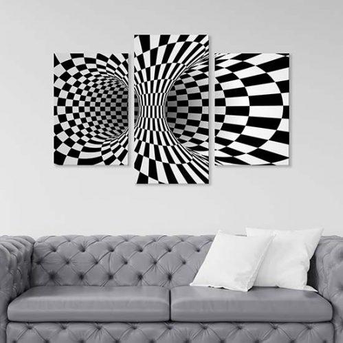quadri astratti illusione ottica