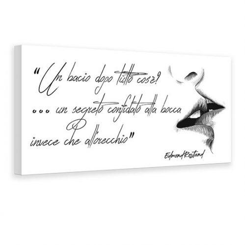 Quadro con scritta di Edmond Rostand