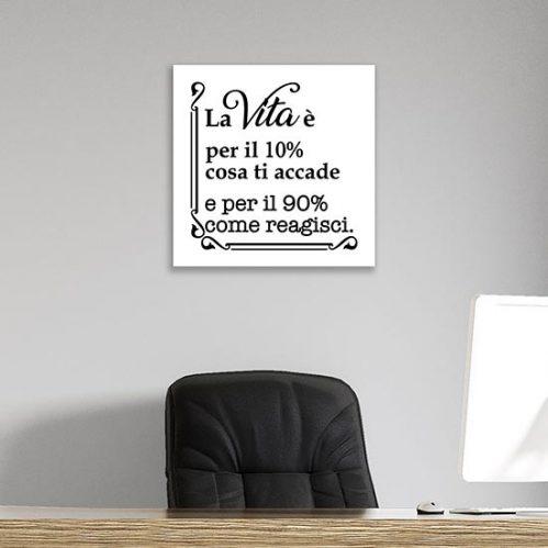 quadro con scritta motivazionale stampa su tela