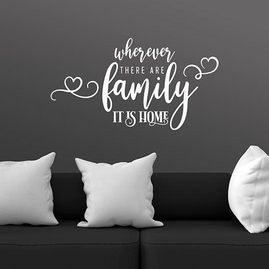 scritte adesive per pareti sulla famiglia