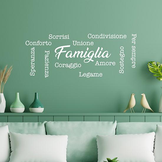 Adesivi da muro con scritte per la famiglia