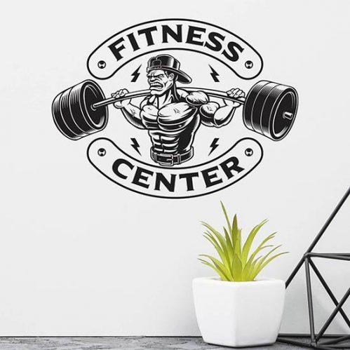 Adesivi murali fitness center