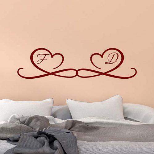 Adesivi murali personalizzati per camera da letto
