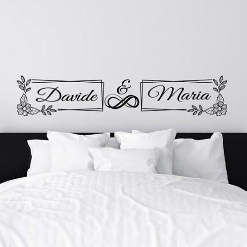 Adesivi personalizzati decorazioni letto