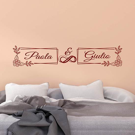Adesivi personalizzati decorazioni letto stickers murali