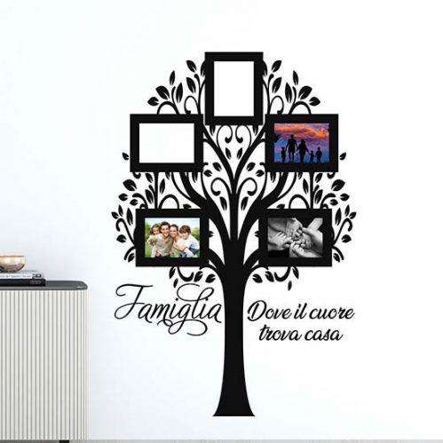 Albero adesivo con cornici foto da muro