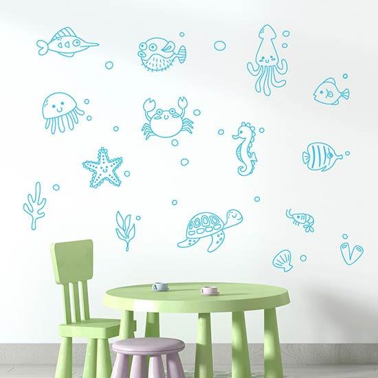 Disegni adesivi murali per bambini wall stickers