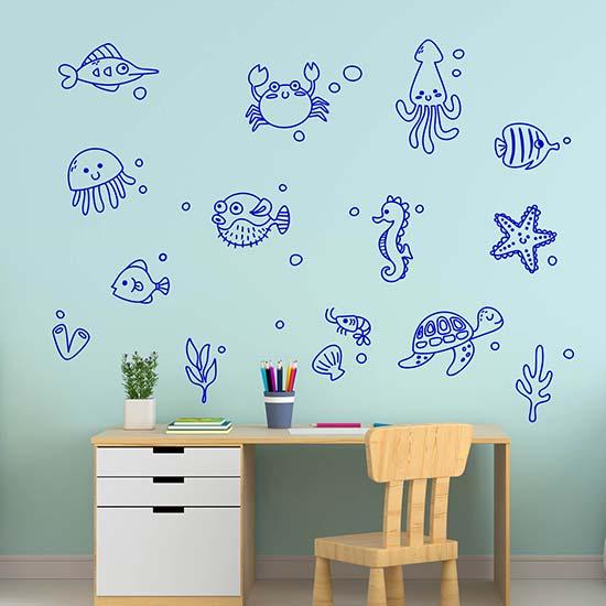 Disegni adesivi murali per bambini