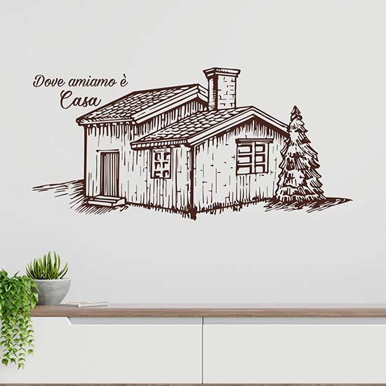 Disegno adesivo da muro per la casa