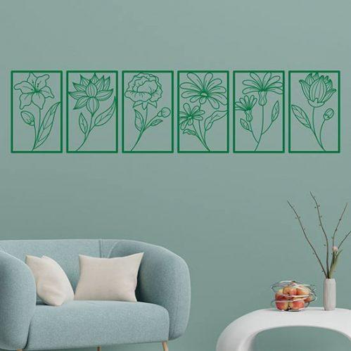 Fiori adesivi da muro wall stickers