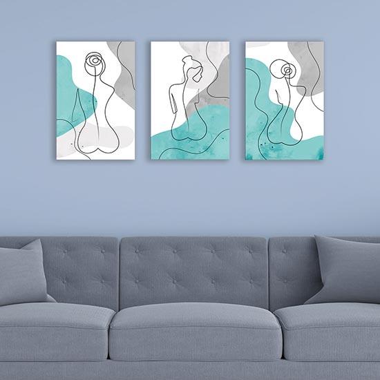 Quadri astratti contemporanei su tela stampe moderne