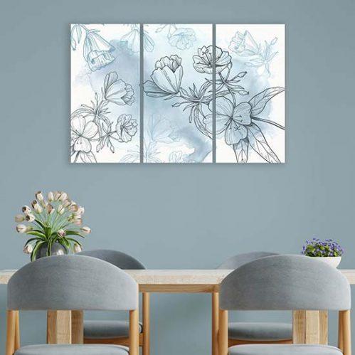 Quadri con fiori su tela