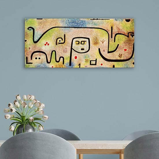Quadro astratto Insula Dulcamara di Klee