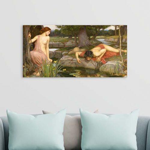 Quadro famoso dipinto di Waterhouse stampa su tela