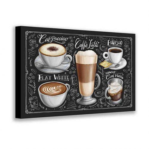 Quadro su tela caffè del bar