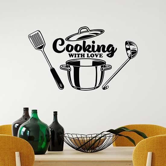 Wall stickers per cucina o ristorante decorazioni adesive