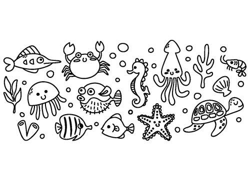 disposizione dei disegni adesivi murali per bambini