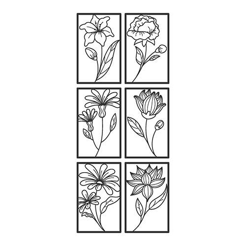 disposizione dei fiori adesivi