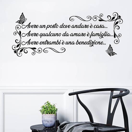frasi adesive per pareti personalizzate