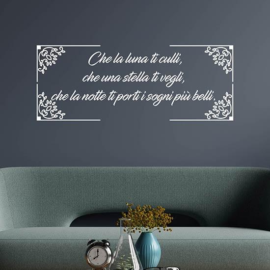 Adesivi personalizzati con frase per decorare