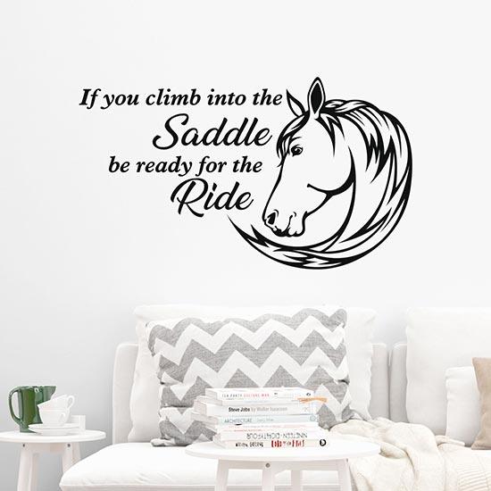 Frase adesiva Climb into the Saddle