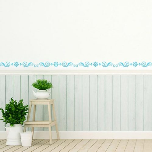 Greche adesive con fiori stickers murali