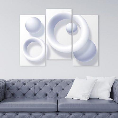 Quadri astratti bianchi su tela decorazioni moderne