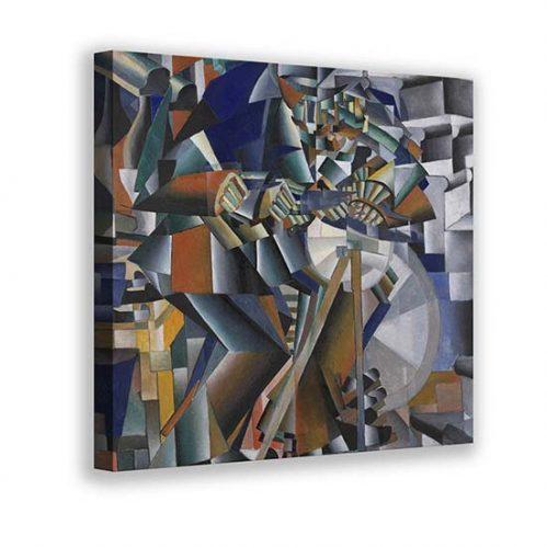 Quadro astratto l'arrotino di Malevich