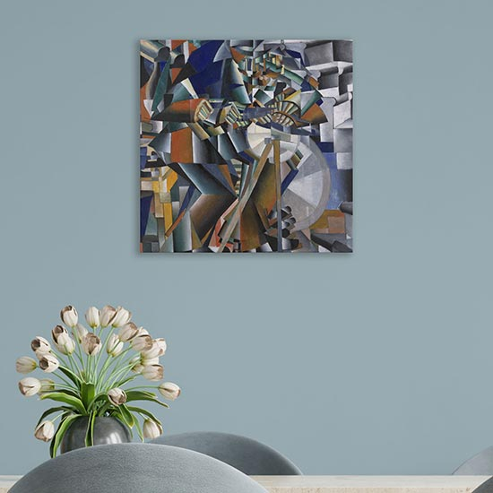 Quadro astratto l'arrotino di Malevich riproduzione su tela