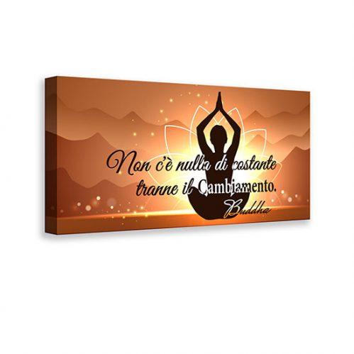 Quadro con frase di Buddha