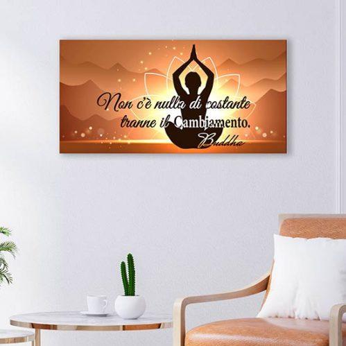 Quadro con frase di Buddha stampa su tela