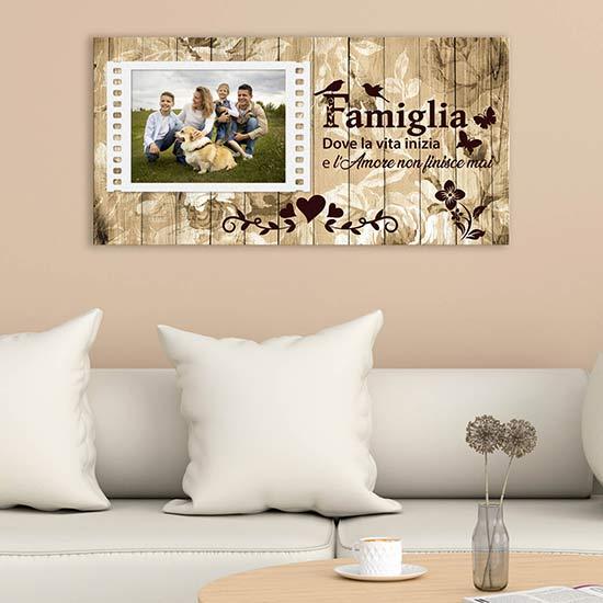 Quadro personalizzato con foto della famiglia stampa su tela