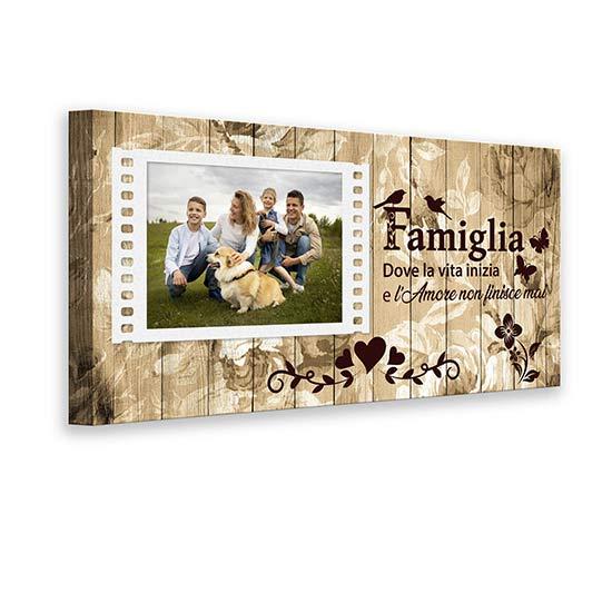 Quadro personalizzato con foto della famiglia