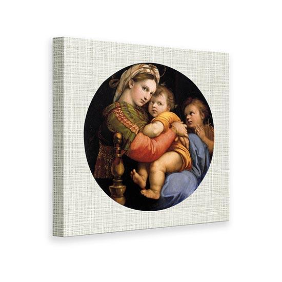 Riproduzione su tela Madonna della Seggiola