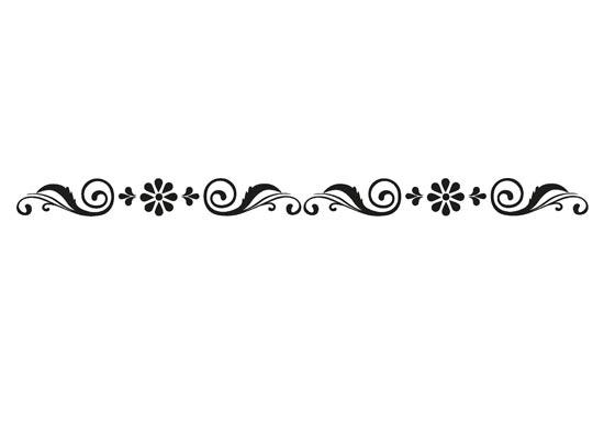 disposizione della greca adesiva con fiori