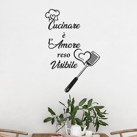 frasi adesive per cucina adesivi murali