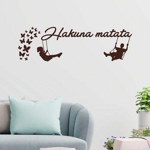 hakuna matata adesivi murali frase adesiva