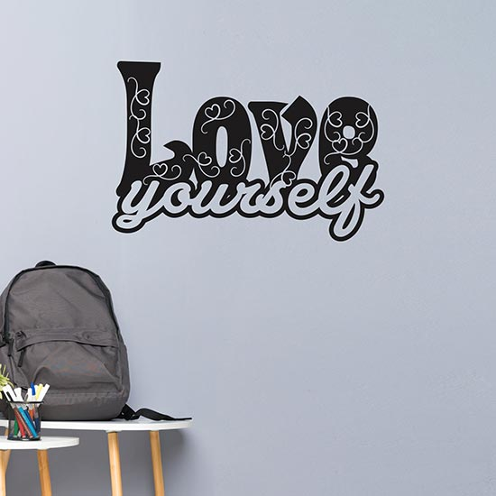 Love yourself stickers murali