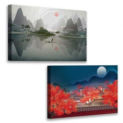 Quadri con paesaggi cinesi