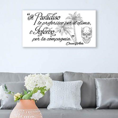 quadro con frase di Oscar Wilde stampa su tela