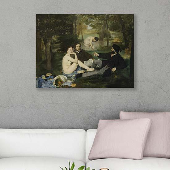 Quadro famoso Colazione sull'erba di Manet