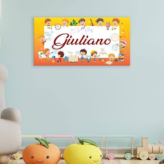 quadro personalizzato con nome per bambini