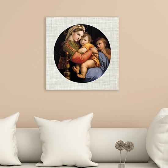 riproduzione su tela Madonna della Seggiola quadro di Raffaello